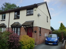 A modern semi-detached house situated in a tucked away location within popular development
